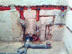 Fürdőszobai vízvezeték hálózat